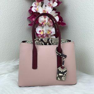 Kate Spade Margaux embossed snake medium satchel